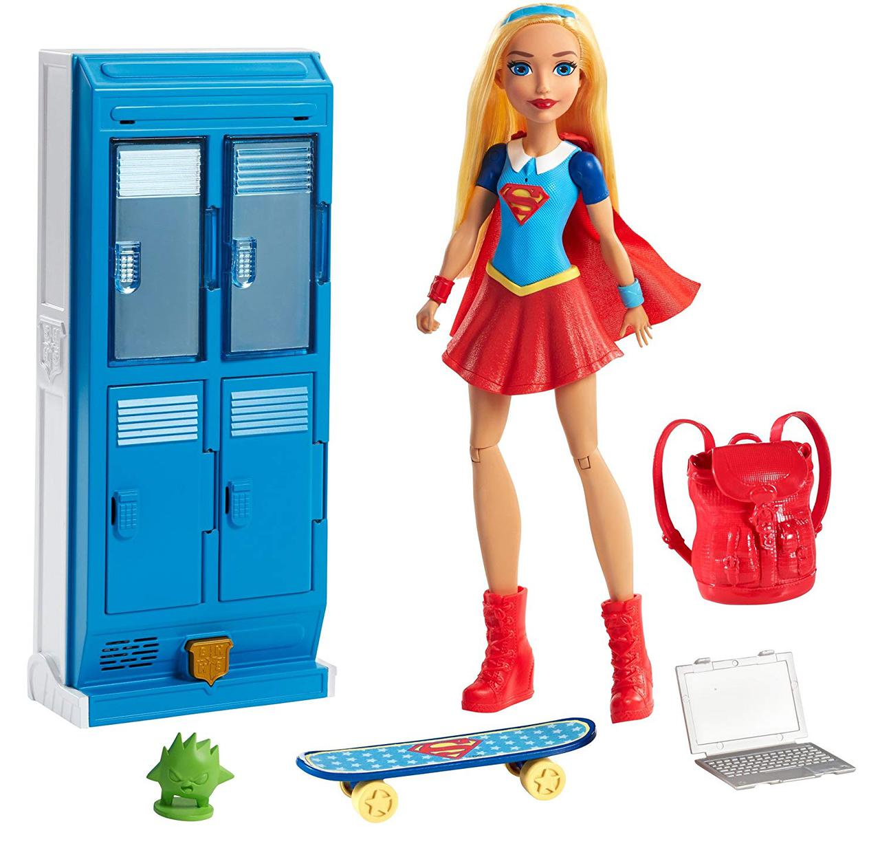 Mattel Супер девушка с аксессуарами DC Super Hero Girls Supergirl Locker Accessory & Doll