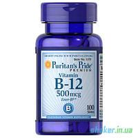 Витамины Puritan's Pride Vitamin B-12 500 mcg (100 таб) пуританс прайд витамин б12