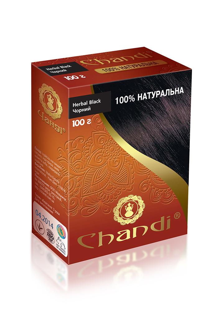 Лечебная аюрведическая краска для волос Chandi. Черный, миниатюра, 30г