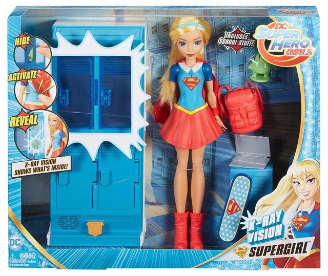 DC Super Hero Girls Supergirl Locker /& Doll School Accessory         LOT OF 2