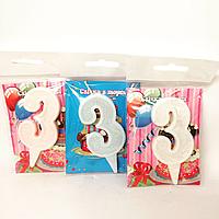 Свечи в торт цифра 3