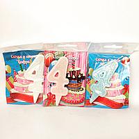 Свечи в торт цифра 4