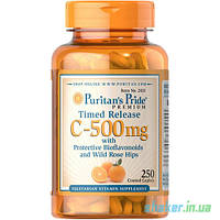 Витамины Puritan's Pride Vitamin C-500 mg with Rose Hips Time Release (100 капс) витамин ц пуританс прайд