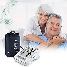 Тонометр автоматический измеритель артериального давления и пульса с LCD экраном, фото 2
