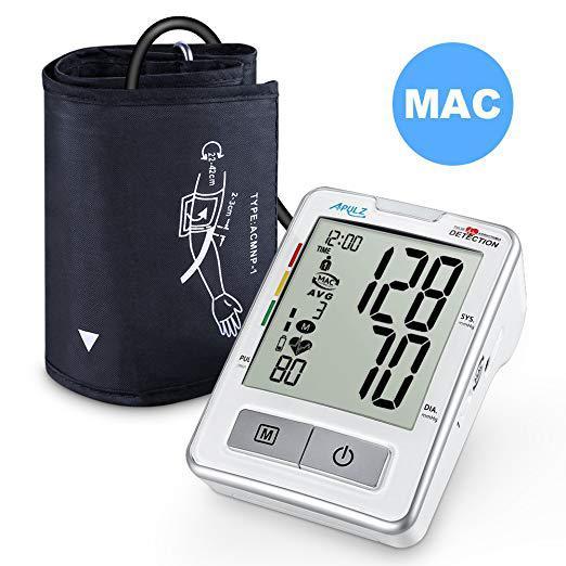 Тонометр автоматический измеритель артериального давления и пульса с LCD экраном