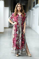 Женское стильное платье в пол, этно орнамент
