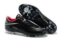 Футбольные кроссовки бутсы Nike HyperVenom [black\pink\skull] (реплика)