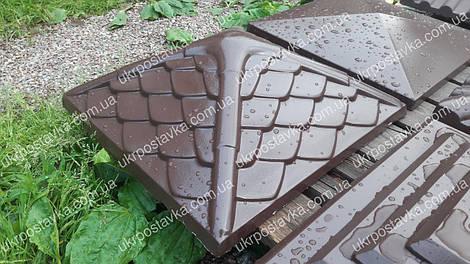 "Крышка для забора LAND BRICK ""Дания"" коричневая 450х450 мм"