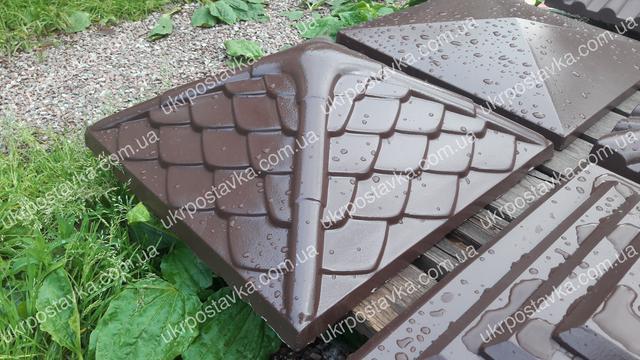 Крышка для забора LAND BRICK Дания коричневая 450х450 мм