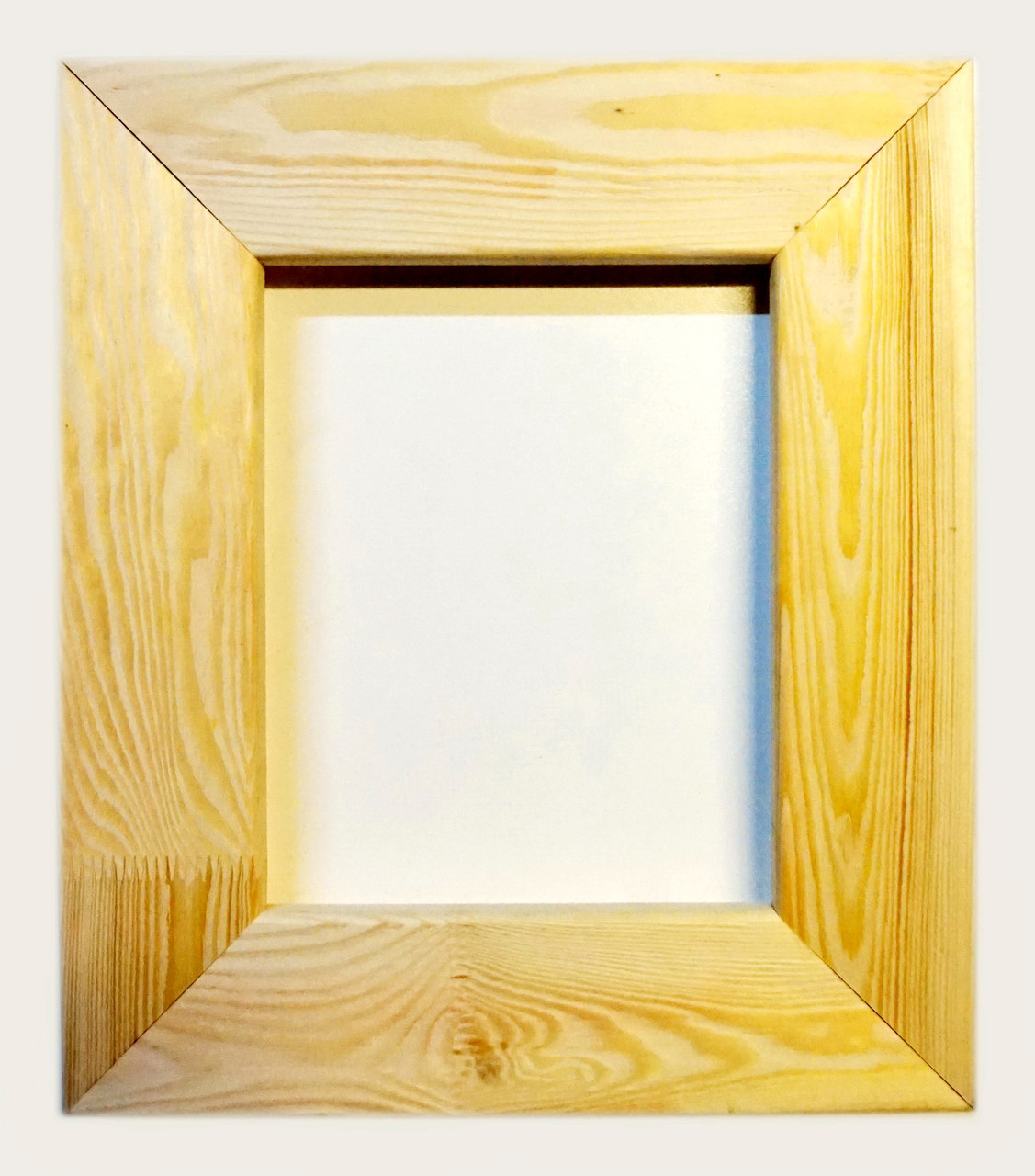 Рамка деревянная плоская с брашировкой под дуб шириной 75мм для декора.40х40см
