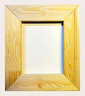 Рамка деревянная плоская с брашировкой под дуб шириной 75мм для декора.15х15см