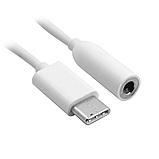 Перехідник USB Type C на 3.5 мм для навушников, гарнітури. Колір білий, фото 2