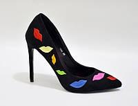 Элегантные и молодёжные женские туфли из эко замша от польского производителя