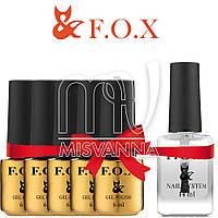 """Набор гель-лаков F.O.X """"5+1"""", 6 мл. в подарок Масло для ухода за кутикулой F.O.X Cuticle oil, 14 мл"""