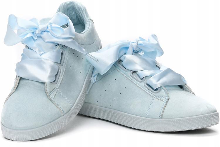 Качественные голубые кеды на шнуровке с Польши