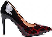 Лаковые женские молодёжные туфли красного цвета по супер цене