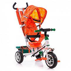 Детский трехколесный велосипед Azimut BC-17B EVA бело-оранжевый