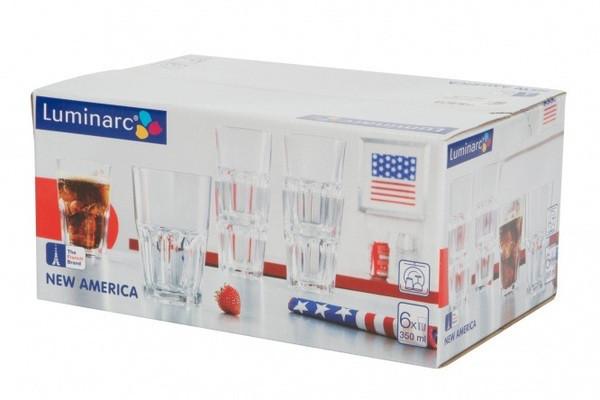 New America Набор стаканов высоких 350 мл Luminarc J2889