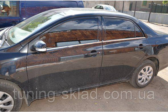 Хром наружная окантовка стекол Toyota Corolla 2007-2013 (Тойота Корола)