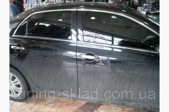 Хром верхняя окантовка стекол Toyota Corolla 2007-2013 (Тойота Корола)