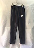 """Спортивні штани для хлопчиків підліткові """"Adidas"""" 8-12 років, темно-сірі"""