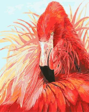 AS0274 Набор-раскраска по номерам Яркий фламинго, фото 2