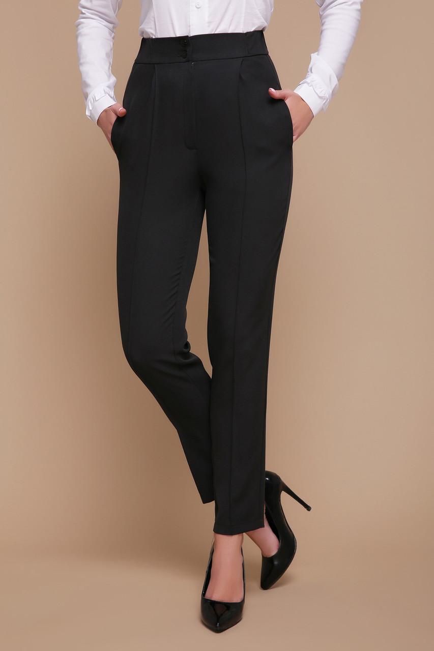 Офисные классические женские черные брюки со стрелками Бенжи