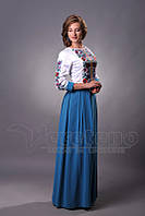 Довге вишите жіноче плаття , вишите випускне плаття