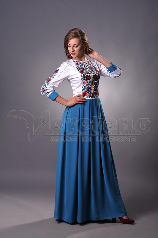 Довге вишите жіноче плаття  5ada220e6b22f