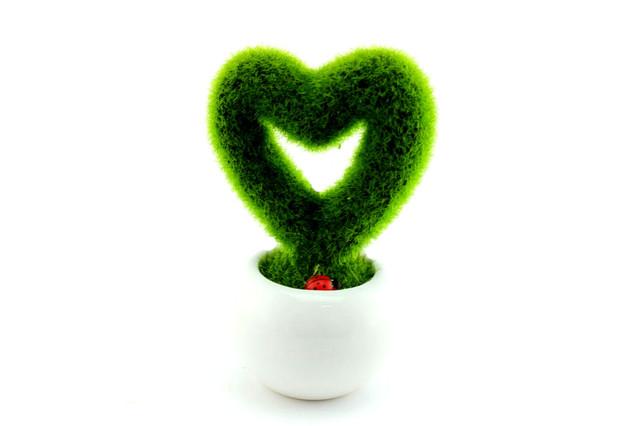 Декоративный вазон сердце