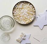 Бусины жемчужные малые белого цвета, 100 шт, размер 5 мм, фото 9