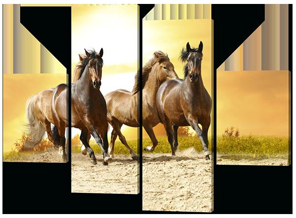 Картина из частей кони лошади 120*93 см