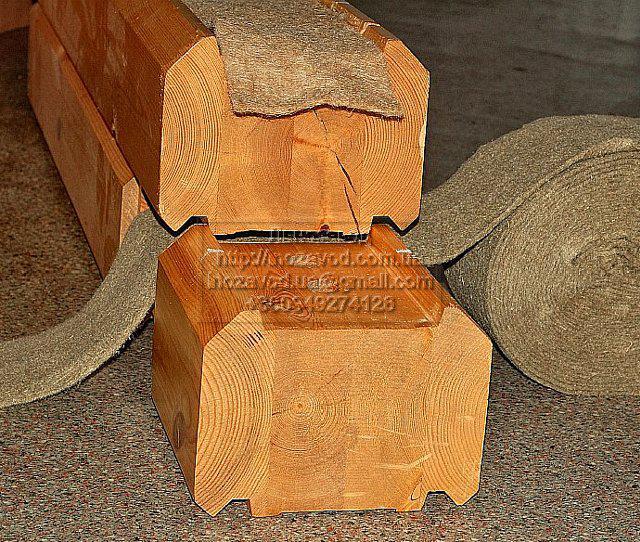 Межвенцовый утеплитель для деревянного дома в ленте джут/лен шир.6 см длина 25 м, фото 1