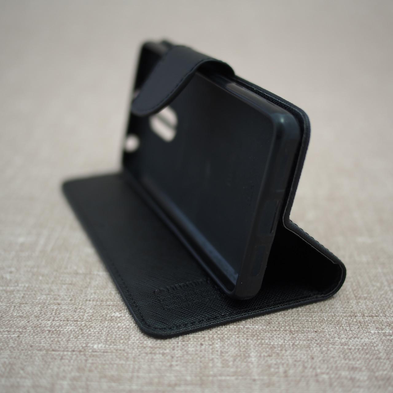 Goospery Fancy Diary Xiaomi Redmi 4 Prime Black Mi 6 Canvas Case Pink
