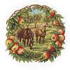 Набор для вышивания крестом J-1453 Кони в яблоках