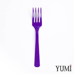 Вилка пластмассовая Purple фиолетовая 10 шт. Amscan
