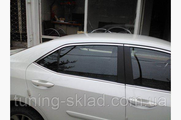 Хром верхняя окантовка Toyota Corolla 2013 (Тойота Корола)
