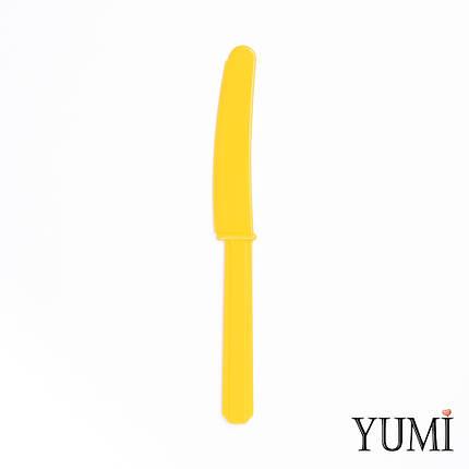 Нож пластмассовый Sunshine Yellow желтый 10 шт. Amscan, фото 2