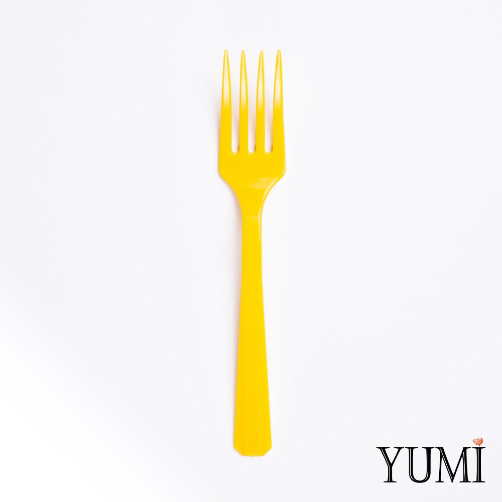 Вилка пластмассовая Sunshine Yellow желтая 10 шт. Amscan