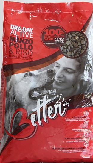 Корм Беттер д/собак Едалт Яловичина та курка з рисом (для активних собак) (червоний) 20кг