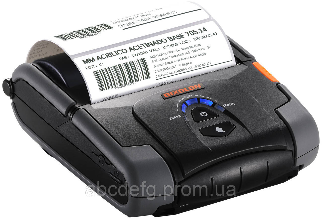 Мобильный принтер чеков-этикеток Bixolon SPP-R200IIIBK (Bluetooth+USB)