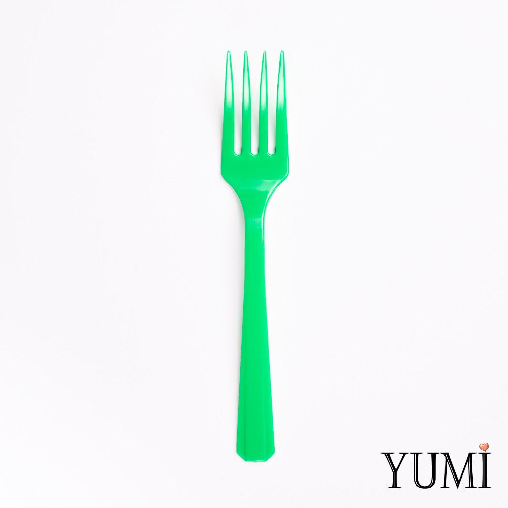 Вилка пластмассовая  Festive Green зеленая 10 шт. Amscan