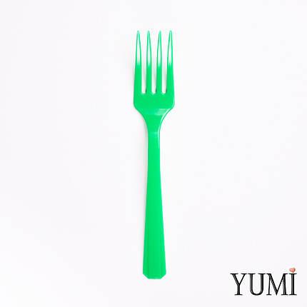 Вилка пластмассовая  Festive Green зеленая 10 шт. Amscan, фото 2