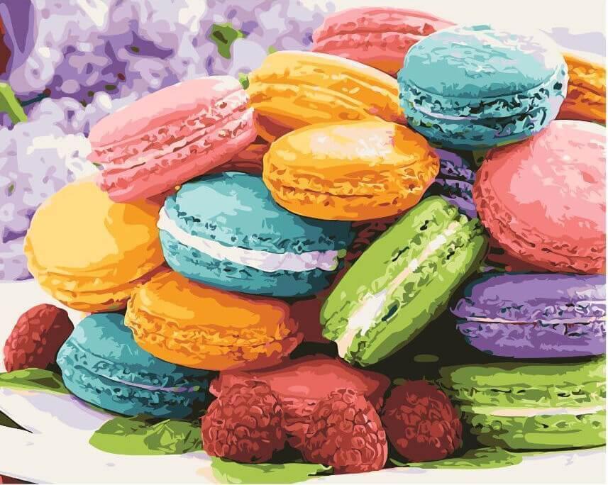 Картина по номерам Изысканый десерт , 40х50 см., Rainbow Art
