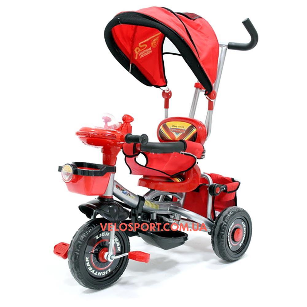 Детский трехколесный велосипед Baby Club Тачки