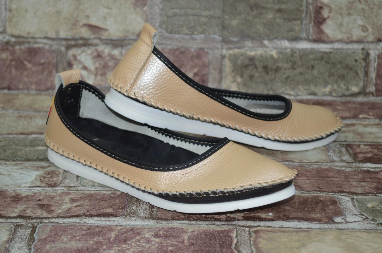 Подростковые и женские туфли (балетки) мокасины Alta Brezza натуральная  кожа повседневные - Shoes- 245eec1019c67