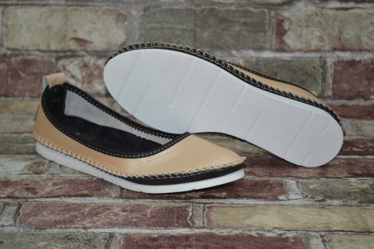 Подростковые и женские туфли (балетки) мокасины Alta Brezza натуральная  кожа повседневные cfce32224a3bb