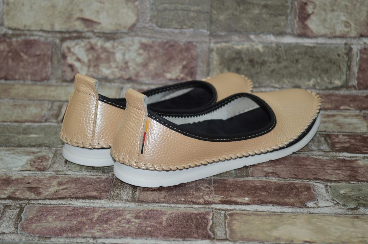 Подростковые и женские туфли (балетки) мокасины Alta Brezza натуральная  кожа повседневные 342cd0b75e484