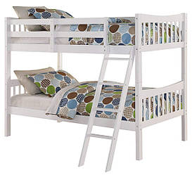 """Двухьярусная ліжко з масиву дерева """"Жасмин"""" для підлітка"""
