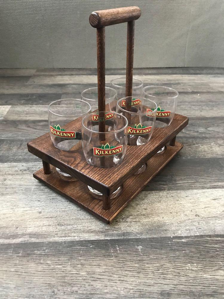 Дерев'яний Дегустаційний пивний набір на 6 келихів